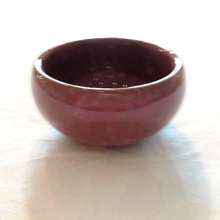 Lilla lille keramikskål med krakeleret glasur. - Forn Sidr