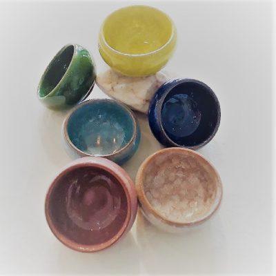 Keramikskål med krakeleret glasur - Forn Sidr